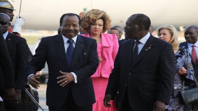 French Cameroun dictator in Abidjan