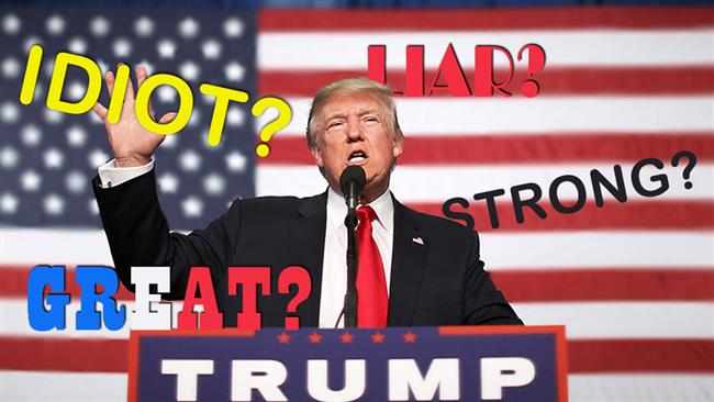 How do you describe President Trump in one word?