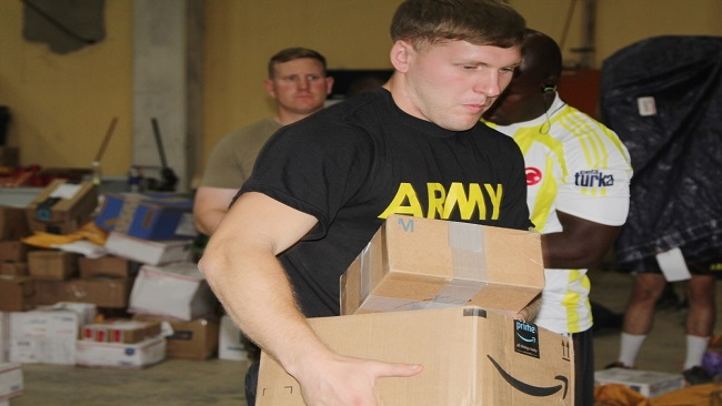 Christmas Mail arrives for US troops in Cameroon