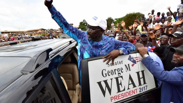 South African President Zuma congratulates George Weah on Liberia election victory