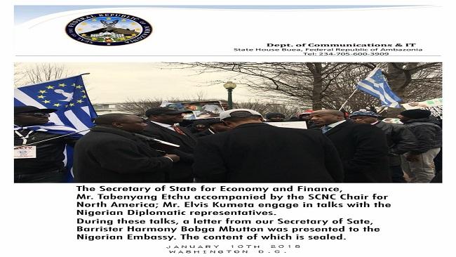 Washington DC: Ambazonians demand release of President Ayuk Tabe