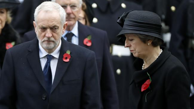 She is 'too weak,'  Labour leader Corbyn blasts British Prime Minister May