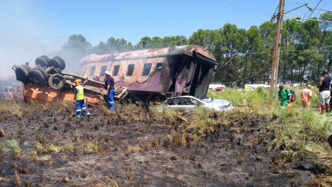 At least 14 dead as train smashes into truck in South Africa