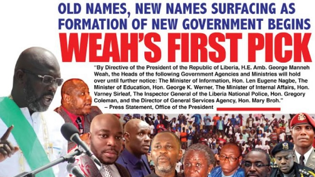 Liberia: Old Names, New Names Surfacing in George Weah's First Cabinet Appointments