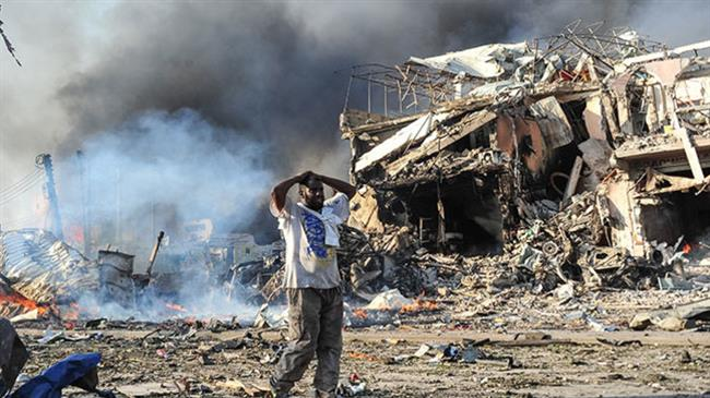 Bomb blast kills 5 at stadium in Somalia