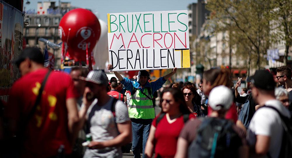 France: Multiple rallies hit Paris as education, railway unions protest Macron reforms
