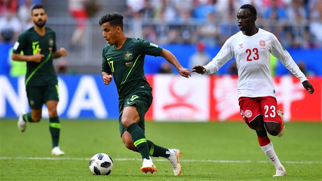 Australia, Denmark share points in FIFA World Cup Group C game