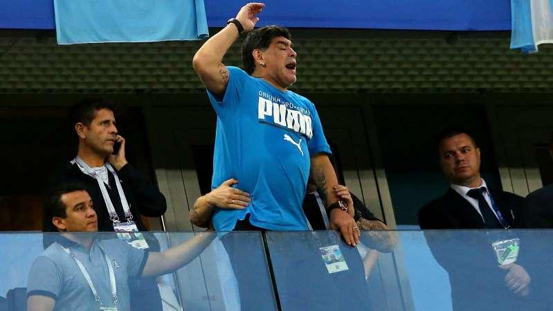 Russia 2018: Maradona falls ill after Nigeria win