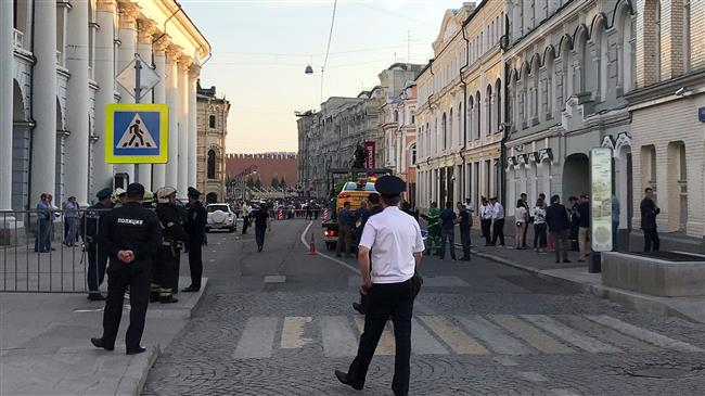 Russia 2018: Seven hurt as taxi runs into crowd in Moscow