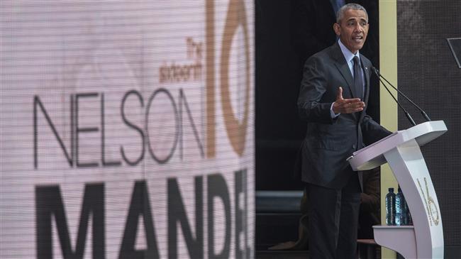 "Obama raps ""Utter loss of shame in political leaders"""