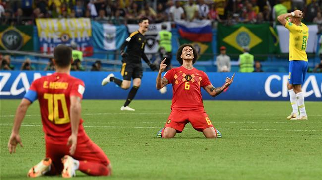 Belgium beats Brazil 2-1 to confront France in World Cup semi-final