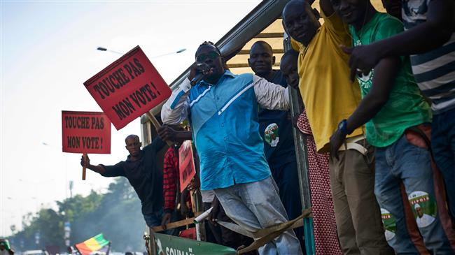 Opposition supporters protest Mali election results
