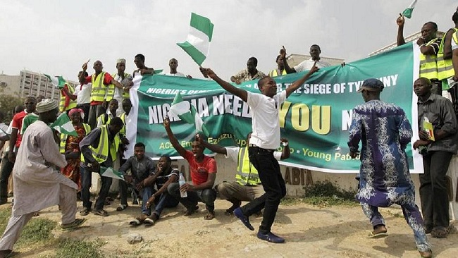 Nigerians protest insecurity following frequent kidnappings