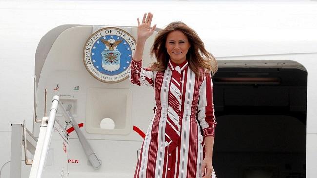 Mrs. Trump arrives in Ghana on Africa trip