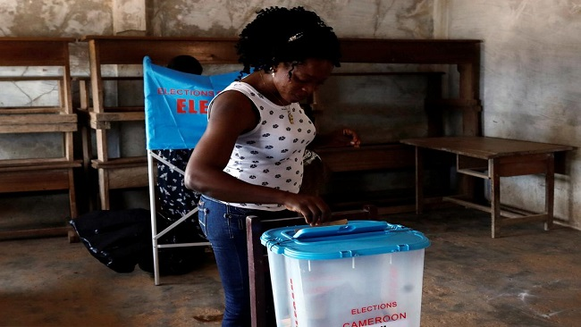 Cameroon has a tense, long wait for election results as social media claims unverified winners