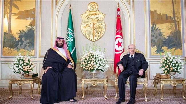 Saudi Arabia's Crown Prince arrives in Tunisia as 100s protest his visit