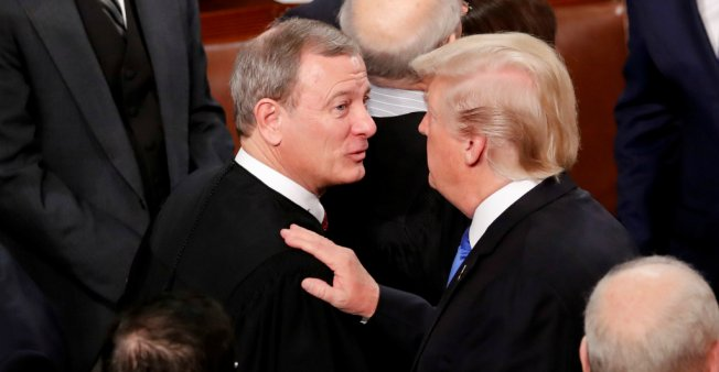 Trump and Supreme Court Chief Justice Roberts in bitter row over 'Obama judge' jibe