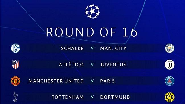 UEFA Champions League draw: Liverpool vs Bayern, Man United vs PSG