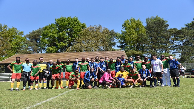 d21618af6f8 UK: Bisong Foundation stages charity football match between Cameroon's 1990 World  Cup stars and Cambridgeshire