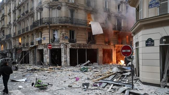 Four people killed as gas leak causes huge explosion in central Paris