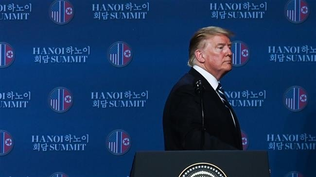 US: Trump blames Cohen hearing for failure of summit with Kim