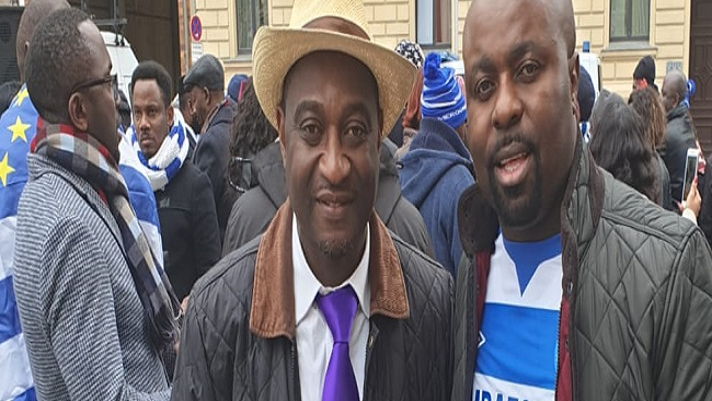 Berlin: Acting President Sako, Hundreds of Ambazonians bring traffic to a standstill as they protest outside Nigerian embassy