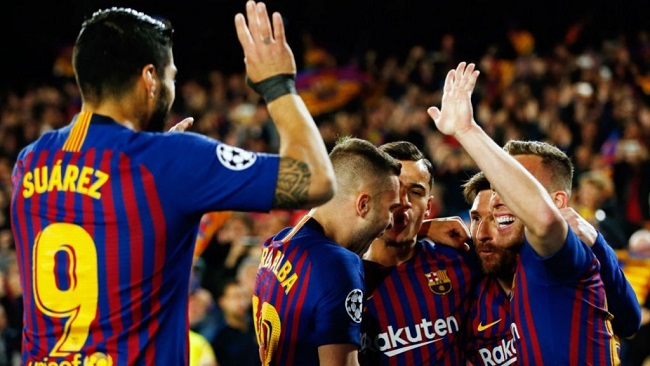 Champions League: Ajax stun Juve, Barca beat United