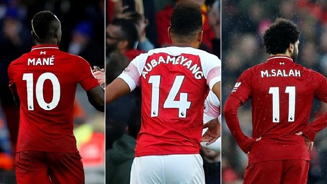 Premier League: Salah, Mane, Aubameyang joint winners of Golden Boot