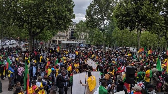 Paris: Protesters call for Biya's resignation