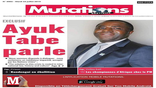"""""""Yes I am still the President"""" Sisiku Ayuk Tabe tells Mutations"""