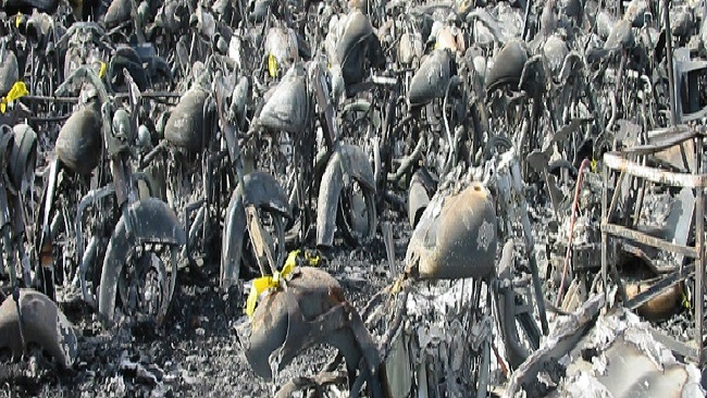 Southern Cameroons Crisis: Military burns bikes in Ossing