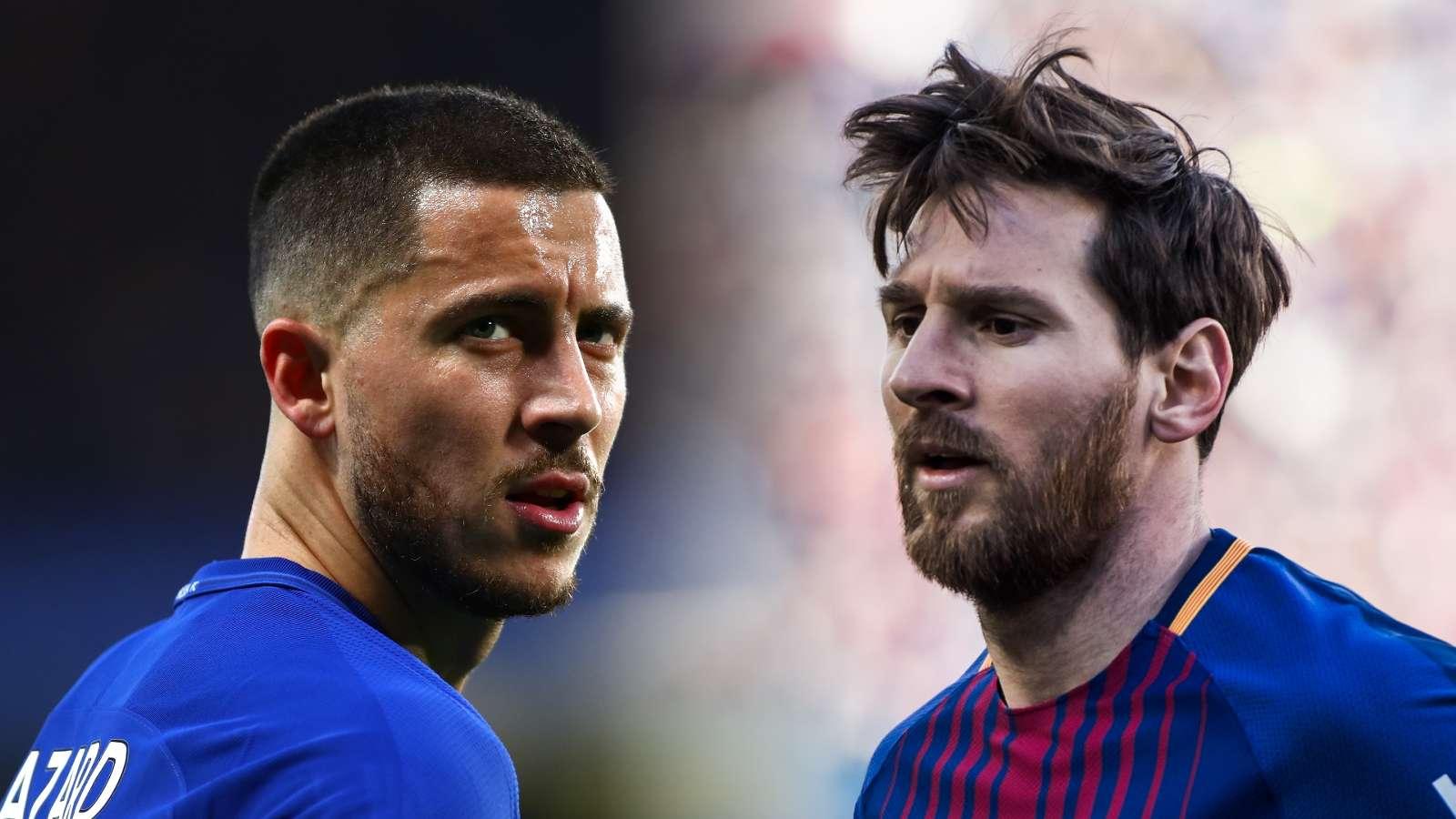 Eto'o says Hazard is close to Messi's level