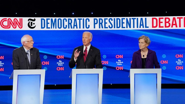 US: Democrats go on attack against Warren on healthcare, taxes at debate