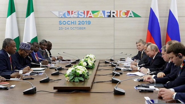 Russian influence comes in to land in Africa