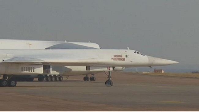 Russian nuclear-capable bombers land in S. Africa