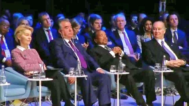 Gov't stops CRTV from showing live Images of President Biya asleep in Paris summit