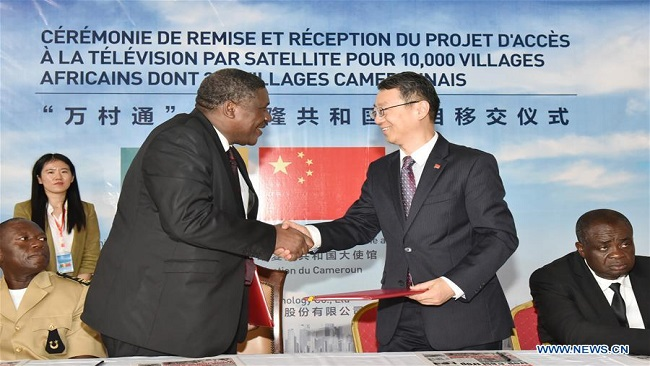 China hands over completed satellite TV project to Cameroon