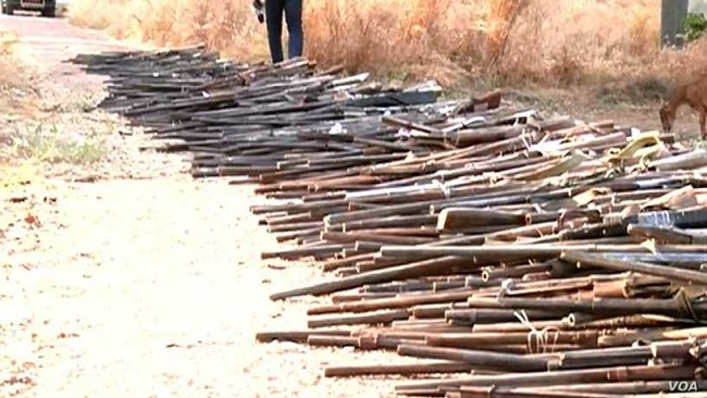 French Cameroun: Military Seizes, Destroys Illegal Guns in North