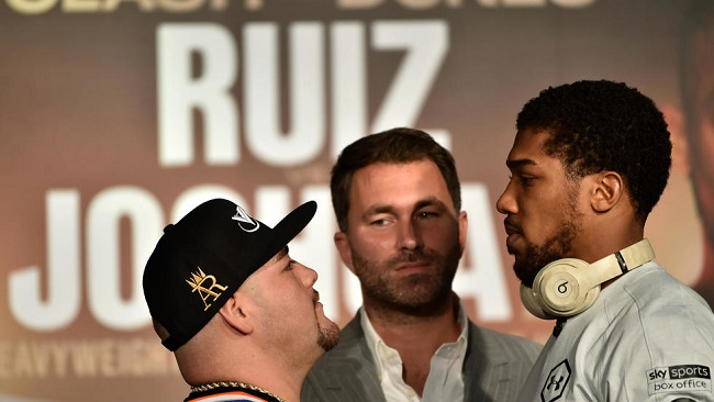 Boxing: Joshua says no celebration if he beats Ruiz