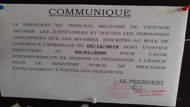 Southern Cameroons Crisis: Yaounde Military Tribunal adjourns trial of Taraba 37