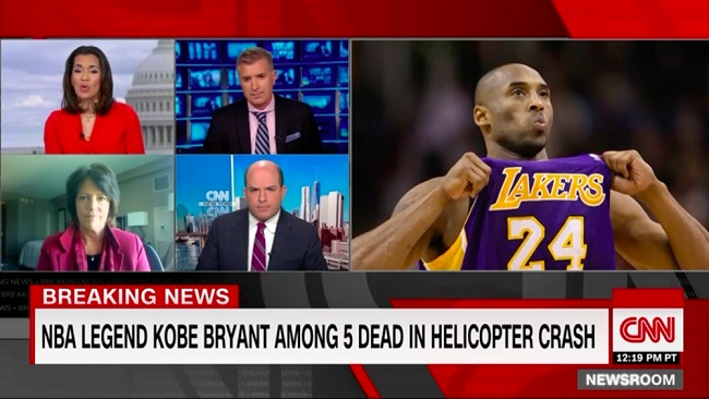 Ex-basketball star Kobe Bryant, four others dead in helicopter crash