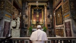 Coronavirus Outbreak: The Holy Father prays at Great Plague church as Italy toll mounts