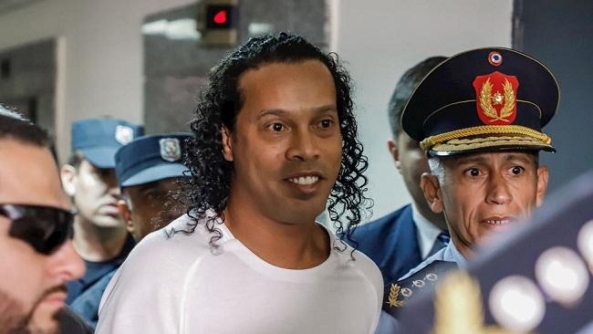 Brazilian football icon Ronaldinho to stay in prison