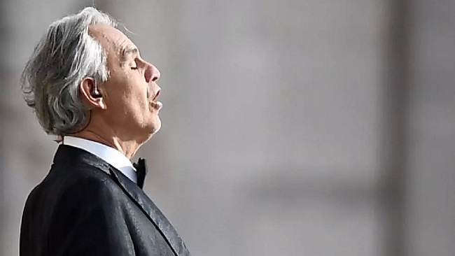 Millions watch Italian tenor Andrea Bocelli sing in Milan's empty Duomo cathedral