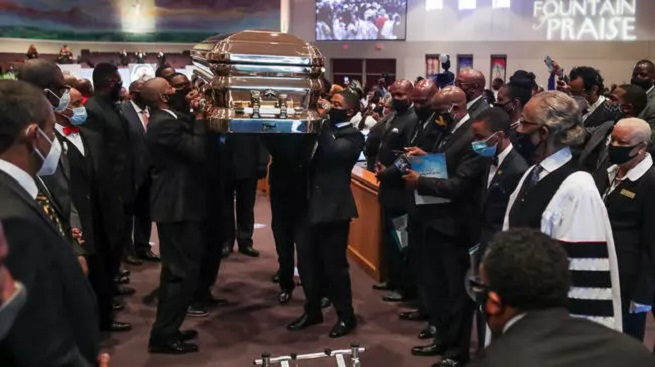 At George Floyd's funeral: Joe Biden calls for racial justice