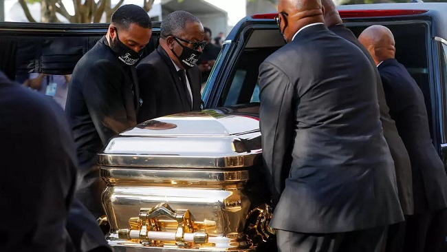 US: George Floyd going home to rest