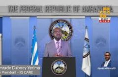 INTERIM GOVERNMENT OF AMBAZONIA STATEMENT ON LEADERS MEETING WITH REGIME IN YAOUNDE
