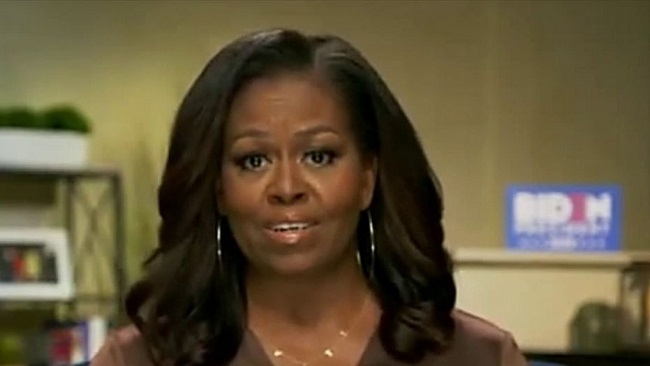 """Michelle Obama says voting for Biden """"only way to end chaos in the US"""""""
