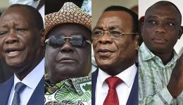 Who are the four candidates standing in Ivory Coast's presidential election?