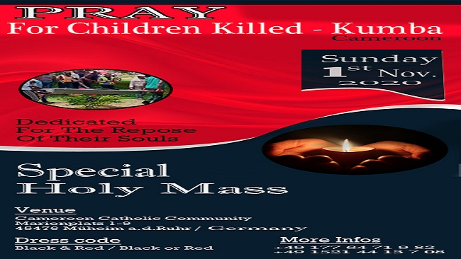Kumba Massacre: 'Mass of Angels' to be held in Germany